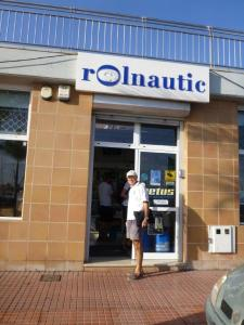 Rolnautic chandlery where John spend many hours standing in line.
