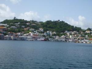 Leaving St Georges Bay Grenada
