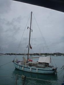 This boat arrived in Grenada 3 days before us having just crossed the atlantic- very wet and stormy according to the skipper who was alone. Amazing!