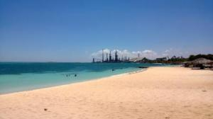 southern beach right side- industrial nightmare! (defunct refinery)