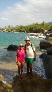 Panama hats in Columbia; Tayrona Park beach