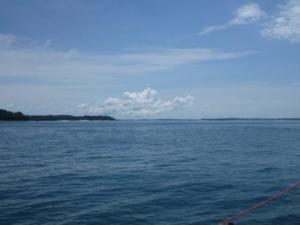 approaching las perlas islands