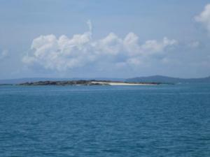 Island which appeared at low tide!