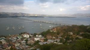 Baringo at anchor outside Puerto Amistad yacht club in Bahia de Caraquez