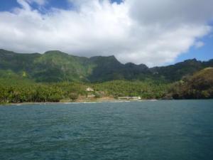 first anchorage Puamau bay