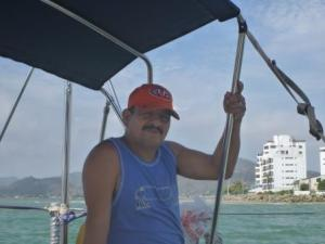 Pedro the local pilot who guided us in and out of Puerto Amistad