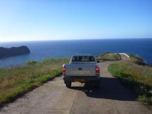 north coast road with the hilux
