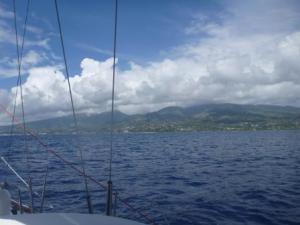 Papeete, Tahiti,  approach