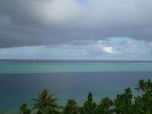 coral reef and lagoon Huahine