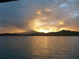 sunset over Raiatea