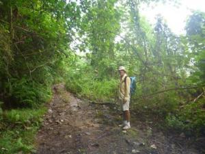 Cross island hike (thanks Simon and Jo for great useful waterproof bag seen here!)