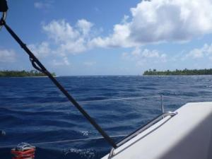 Fakarava nice big wide pass into lagoon