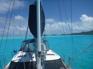Bora Bora anchorge; wonderful colours
