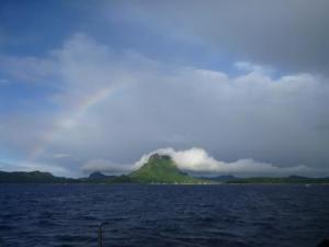rainbow over Bora Bora