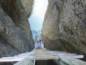 Chasm entry