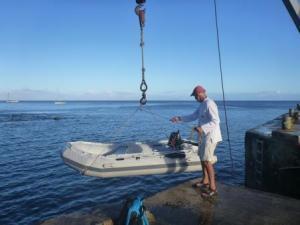 landing the dinghy