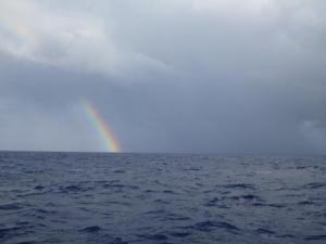 Rainbow rain squall