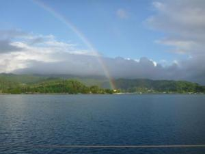 Rainbow in Raiatea near Carenage