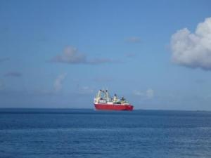 Supply ship en route to Borabora