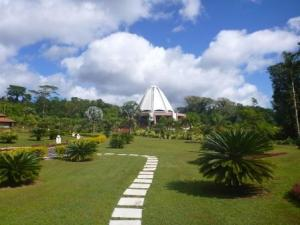 Serene Baha'i temple