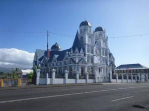 Samoa cathedral. But we went to smaller protestant church near the marina