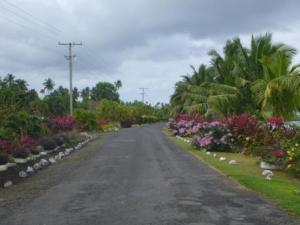 typical samoan road-nicely kept