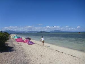 Kite surfers Ilot Maitre