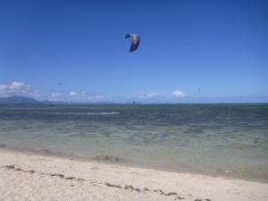 Multitude of Kite surfers
