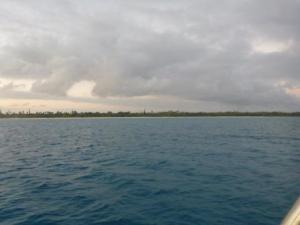 Ouvea atoll on a cloudy windy day sadly.